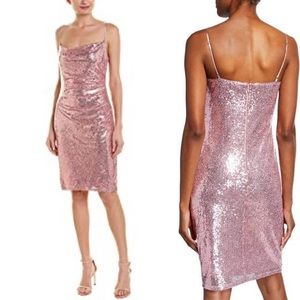 - Pink sequin Laundry dress NWT